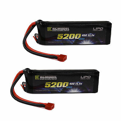 FP 2X 3s High Performance  Lipo Battery 11.1V 5200mah 45C 90C RC Car Boat