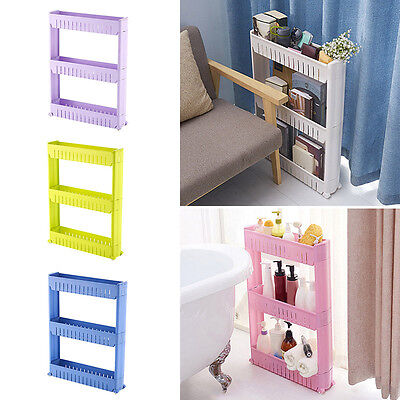 Latest Kitchen Storage Rack Fashion Bathroom Slim Slide Shelf Multi-layer Holder