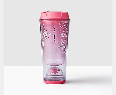 2017 Starbucks Floating Cherry Blossom  - Tumbler 12 Oz *NEW Limited Ed SOLD OUT