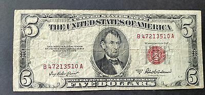 1953-A $5 United States Note Banknote