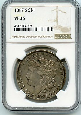 1897-S Silver Morgan Dollar VF 35 NGC