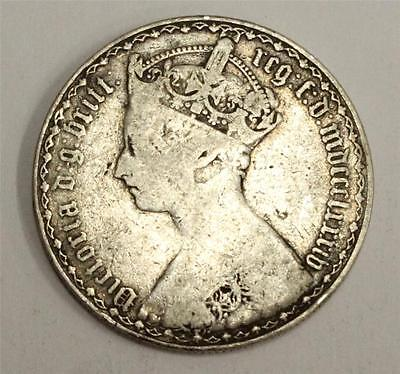 1884 Great Britain Gothic Florin Very Good+ VG10