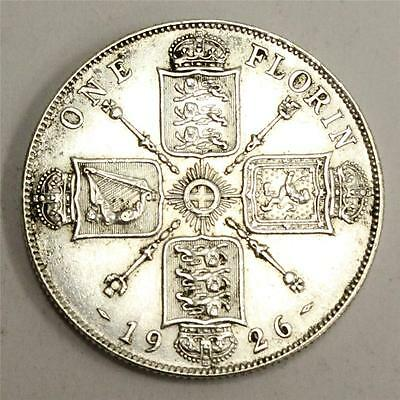 1926 Great Britain Florin almost Uncirculated AU50