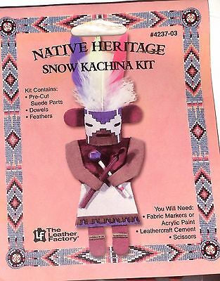 Native Heritage Suede Leather Kachina Ornament Kit - NEW! EZ Project