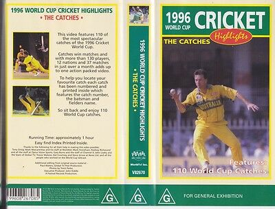 Cricket ~1996 Cricket Highlights  The Catches Vhs Video Pal~ A Rare Find
