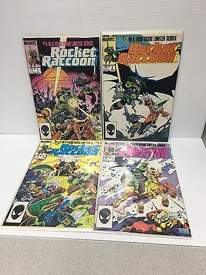 Rocket Raccoon 1-4 Marvel 1985 Limited Series Comic Set Guardians of the Galaxy