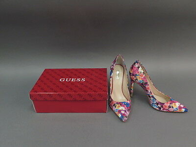 Guess High Heel Stiletto Pink & Purple Floral Pumps Shoes Women's Size 9M