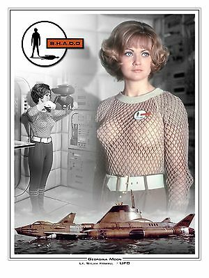 "Georgina Moon UFO 16"" x 12"" Montage Artwork Photo Poster"