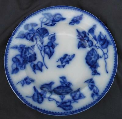 Antique FLOW BLUE ROYAL LILY or BLUEBELL BOWL c.1820-1850s