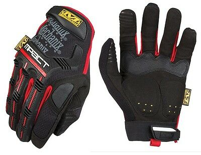 Mechanix Wear MPT-52-010 Men's Black/Red M-Pact Gloves TrekDry - Size Large