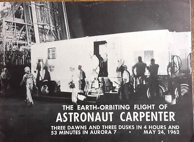 Vintage 8 Page Souvenir Booklet- 1962 Astronaut Carpenter Oribit Flight (M6221)