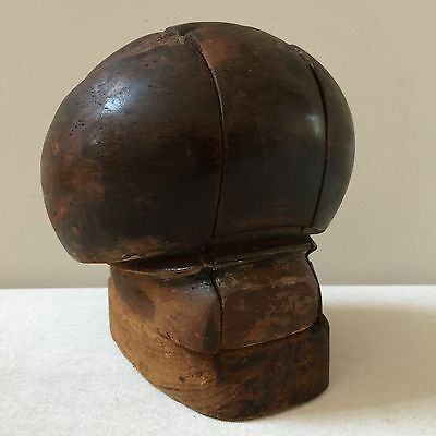 Vintage Antique Wood Hat Block - Restored - Round Millinery Puzzle 5 Piece