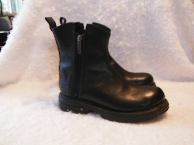 Women's, Harley Davidson, Motorcycle, Black Leather Boots, Size 6.5