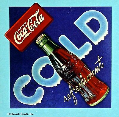Coca-Cola / Hallmark TWO 1983 NEW sealed mini jigsaw puzzles 'COLD Refreshment'