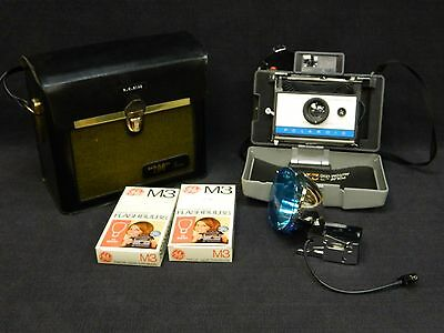 Vintage Working Polaroid 210 Automatic Land Camera + Case Booklet Flash Bulbs