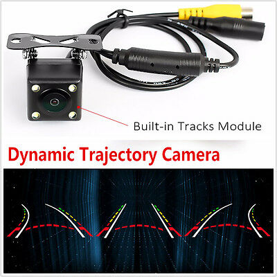 Waterproof Car Dynamic Trajectory Rear View Camera With 4IR LED Night Vision Kit