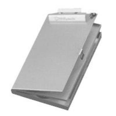 "Posse Box PB-37S 9"" x 14"" x 1.5"" Silver Side Opening Dual Tray Clipboard Box"