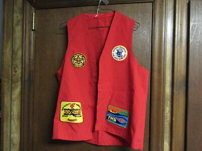 Boy Scout Red Patch Vest with Patches    A78