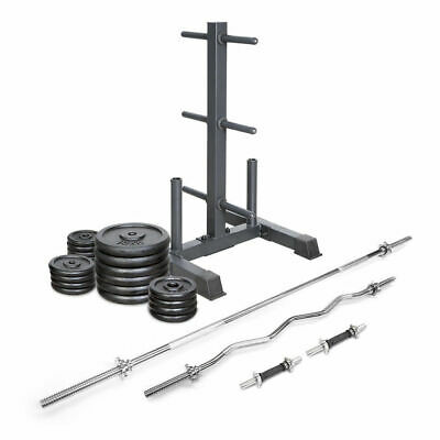 Lifespan 120kg Cast Iron Weight Set with stand
