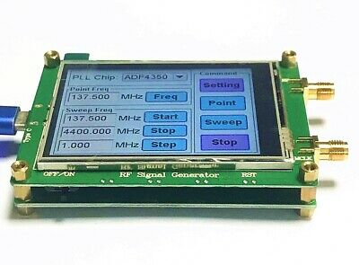 New ADF4351 RF Source Signal Generator Board 35M to 4.4G + STM32 TFT Touch LCD