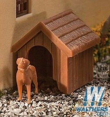 Walthers SceneMaster 949-4147 Ho Scale Dog & Kennel (Doghouse) Kit
