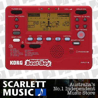 Korg Beat Boy Drum Machine Recorder and Tuner BeatBoy - w/3 Years Warranty.