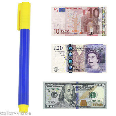 Money Checker Pen Forged Bank Note Detector Pens Fake Notes Tester Pen Fraud
