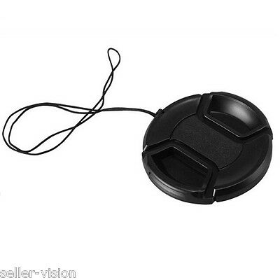52mm Snap Lens Cap Cover for Sony/Nikon/Olympus/Pentax/Panasonic/Fuji With Strap
