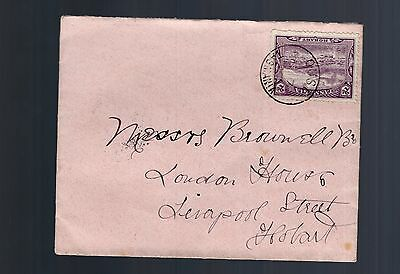 Tasmania OUSE cds on 2d pictorial on 1906 cover Hobart backstamp see scans x 2