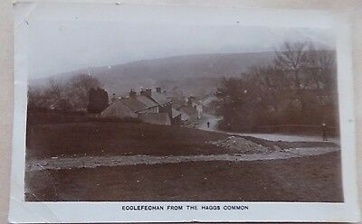 Vintage Old Postcard Posted 1921 Ecclefechan Haggs Common Scotland Streets Photo