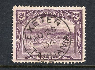 Tasmania EXETER cds 1906 rated s+ (6) on 2d pictorial