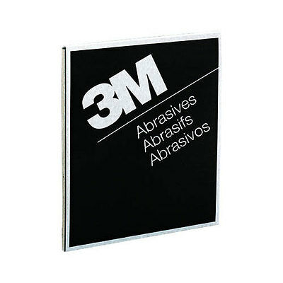 "3M 400 GRIT Wet or Dry Black Abrasive Sandpaper 9"" x 11"" Sheet 50 in a box 2002"