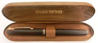 vintage waterman fountain pen 18k 750 with original case made in france #