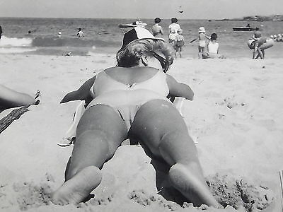 Vintage Photograph - 50's/60's - Woman sunbathing 'cooked' Erotic/Glamour