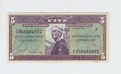 Military Payment Certificates  $5 series 681 ef