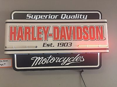 Harley-Davidson Superior Quality Motorcycles Neon Sign **DAMAGED** (HDL-15404)