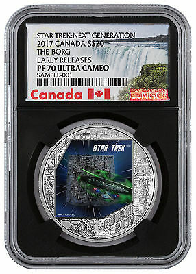 2017 Canada Star Trek - The Borg 1 oz Silver $20 NGC PF70 UC ER Black SKU47117