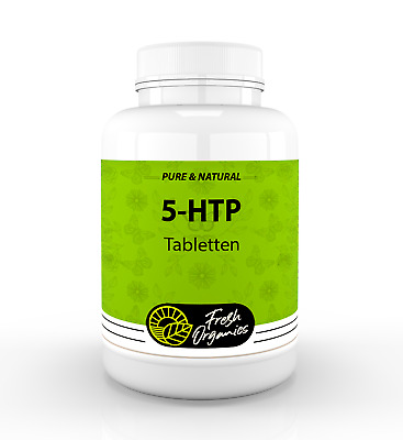 5-HTP - 200mg - 125-1000 Tabletten (Vegan) Serotonin, Depression Schlaflosigkeit