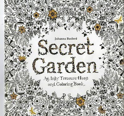 English Secret Garden An Inky Treasure Hunt Coloring Book by Johanna Basford