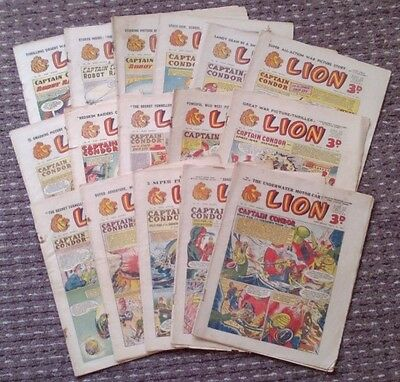 Lion comic 1953-1954 (x 16). Good comics