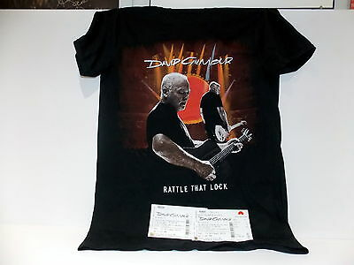 DAVID GILMOUR Rattle That Lock T-shirt ALBERT HALL London2016 PINK FLOYD~SIZE M