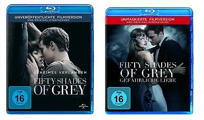 2 Blu-rays * FIFTY SHADES OF GREY 1 + 2 IM SET # NEU OVP +