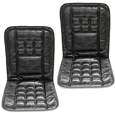 2 x Orthopaedic Leather Car Front Seat Pair Covers Protect Back Support Cushion