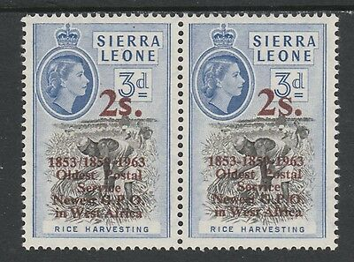 Sierra Leone 3916 - 1963 POSTAL  COMMEMORATION 2s on 3d VARIETY unmounted mint