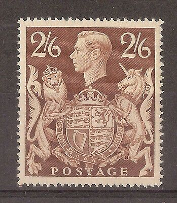 GB 1939 2/6d Brown SG476 Mint Cat£95