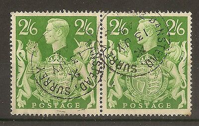GB 1939 2/6d Green SG476b - Banstead CDS