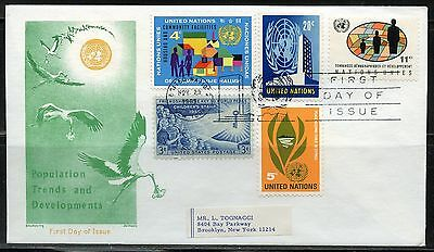 United Nations 1966  Population   Combination First Day Cover  Great Franking
