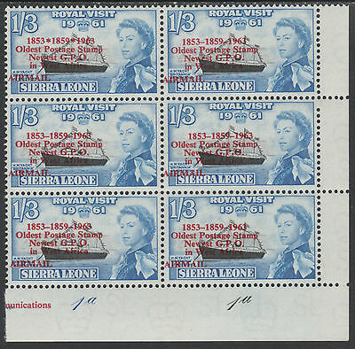Sierra Leone 3922 - 1963 POSTAL  COMMEMORATION 1s3d VARIETY unmounted mint