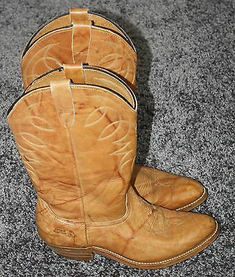 Classic Leather Western Cowboy Cowgirl Boots Womens 8 Medium Golden Brown