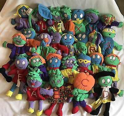 Abrams Learning Trends The Letter People Complete Puppet Set Alphabet Plush 26